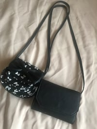 black and white leather crossbody bag Vallejo