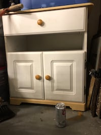 White and brown wooden cabinet Raeford, 28376