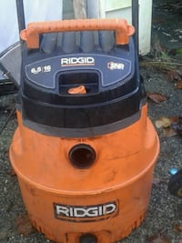 orange and black Ridgid wet and dry vacuum cleaner Surrey, V3T 3J1