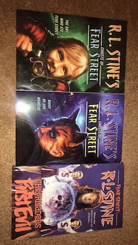 "Three R. L. Stine books from the series ""Fear Street"" Olney, 20832"