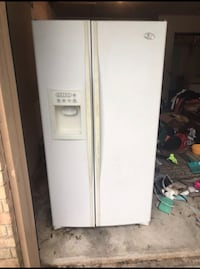 white side-by-side refrigerator with dispenser 1231 mi