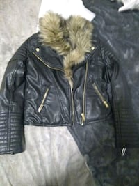 faux leather jacket with fur Size Small Calgary, T2A