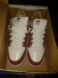 pair of white Nike Air Force 1 shoes with box Beltsville, 20705