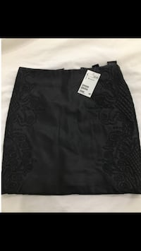 black leather floral pencil skirt Surrey, V3T 2B3