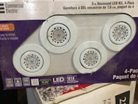 Commercial Electric 4 Pack Led recessed lights. Bolton