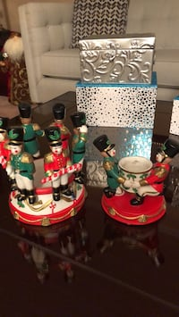 Christmas Two party lite candle holders