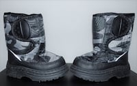 BLACK & GRAY CAMO PRINT SIZE 5 TODDLERS WINTE BOOTS Columbus