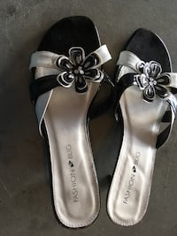 pair of gray leather open-toe sandals Fresno, 93722