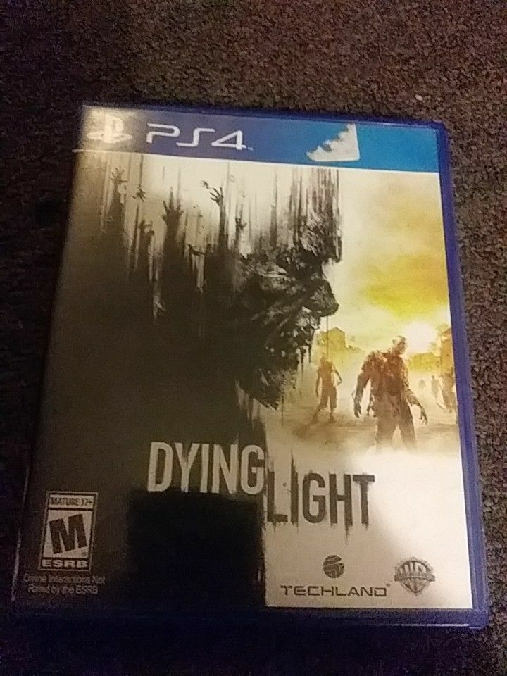 Dying Light PS 4 game case