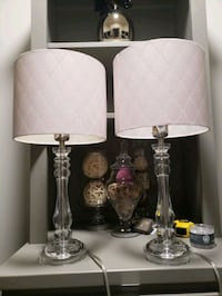 2 Pottery barn lamp stands including shades  Houston, 77096