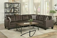 Lantana Chocolate Classic Sectional with Pillows   Houston