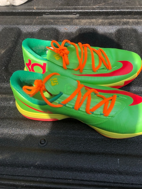 "Nike KD  (Kevin Durant) 6 GS ""Candy"" in flash lime/ 5"