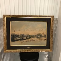 Early Oil Painting of Bayou St. John New Orleans, 70113
