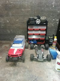 two red and blue RC car toys 230 mi