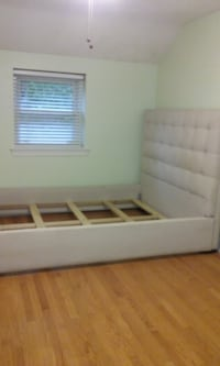 white wooden bed frame with mattress Washington