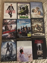 ASSORTED DVD's $1.00 EACH