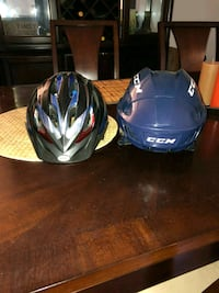 two blue and white full-face helmets Mississauga, L5M 8A3
