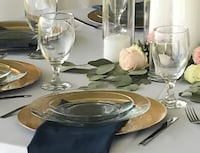 Clear Glass Salad & Dinner Plates SIMPSONVILLE