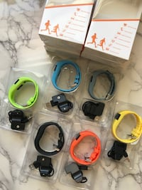 New smart bands bracelets for iPhone or android smartphones gadgets.