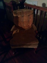brown fabric padded glider chair 54 km
