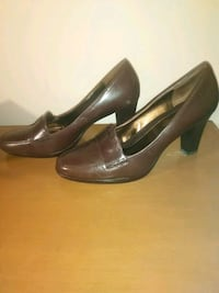 Brown vintage shoe high heel loafers size 9.5m Hyattsville, 20784
