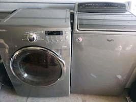 Platinum Gray Glass Top Washer &Dryer-  DELIVERY AVAILABLE