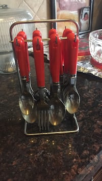 red handled spoons and forks Surrey, V3S 2T4