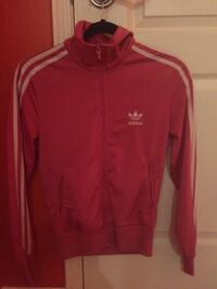 red and white Adidas zip-up jacket Ajax, L1Z 1K9