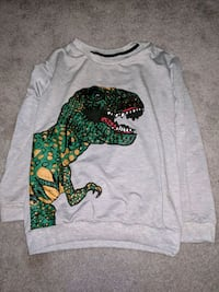 gray and green T-rex graphic scoop-neck sweater Raleigh, 27608