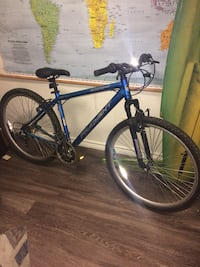 blue and gray hard tail mountain bicycle Austin, 78745