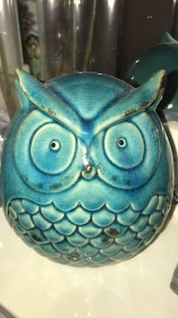 blue and white ceramic owl figurine San Leandro, 94577