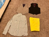 three assorted color long-sleeved shirts Cleburne, 76031