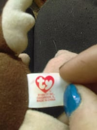 brown Ty Beanie Baby toy