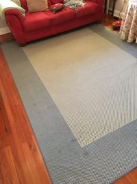 White and blue area rug New Orleans