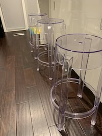 Lucite Counter Stools