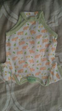 baby's white and green onesie New Westminster, V3M 3S2