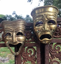 Solid brass comedy/tragedy masks  Tampa, 33603