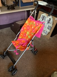 Baby doll stroller for large dolls