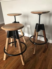 Industrial Bar Stools - Set of 3 Chicago, 60608