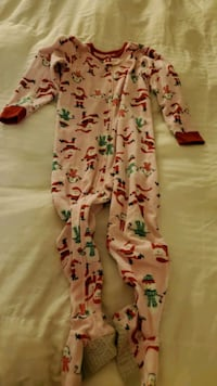 Girl 4/5T  Christmas overall pajamas  smoke-free and pet free home  Germantown, 20874