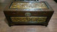 Chinese wooden carved chest  Mississauga, L5W 0B8