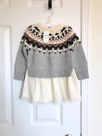 Gapkids fair isle sweater dress size 18-24 months- New with tags Mississauga, L5M 0C5