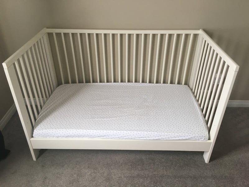 Crib with Mattress (IKEA-Gulliver) aa6e431d-8c16-4f04-bfbd-528f3f4da0a6