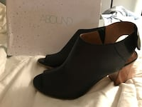 BRAND NEW IN BOX- women's black peep toe booties size 9.5 Goshen, 10924