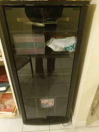 black wooden glass cabinet Ontario, M1W 2H5