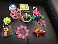 9 pieces infant toys and teether Owings Mills, 21117