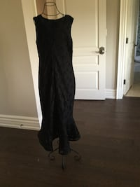 Black high and low lace dress