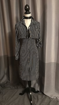 Black and white stripe long-sleeved dress Edmonton, T6K 3K2