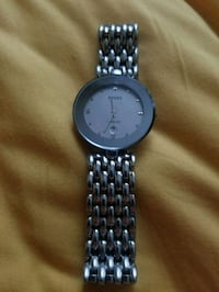 round silver analog watch with link bracelet Calgary, T2Z 4Z9