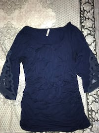 Blue maternity 3/4 long sleeve Fairhope, 36532
